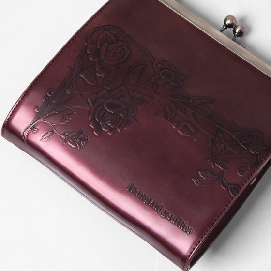 Jean Paul Gaultier ROSE Embossed Metallic Bag