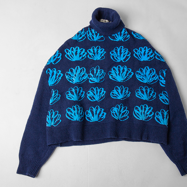 COMME DES GARCONS 1996A/W FLOCK PRINTING FLOWERS KNIT TOP