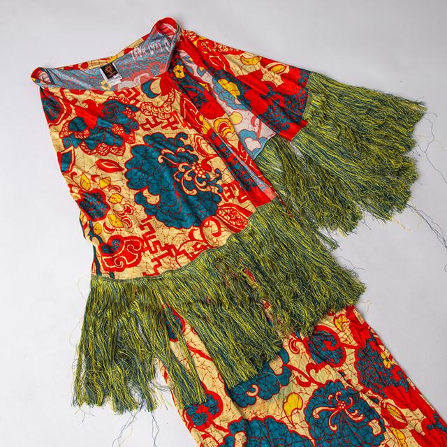 Jean Paul GAULTIER MAILLE Fringe Printed Dress
