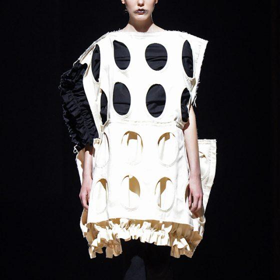 COMME des GARCONS S/S 2014 Holes Design Dress