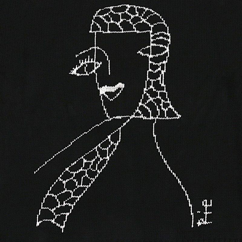 YOHJI YAMAMOTO Rie Miyazawa Drawing Knit