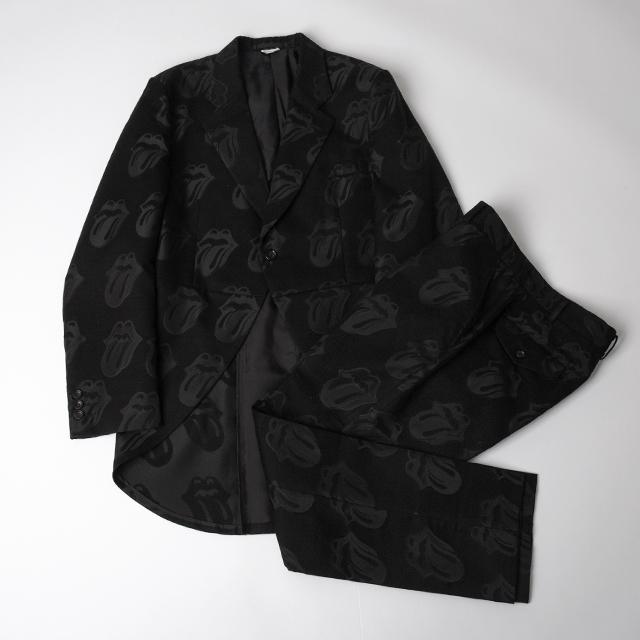 Comme des Garcons x Rolling Stones 2006S/S Lips Woven Jacket & Pants