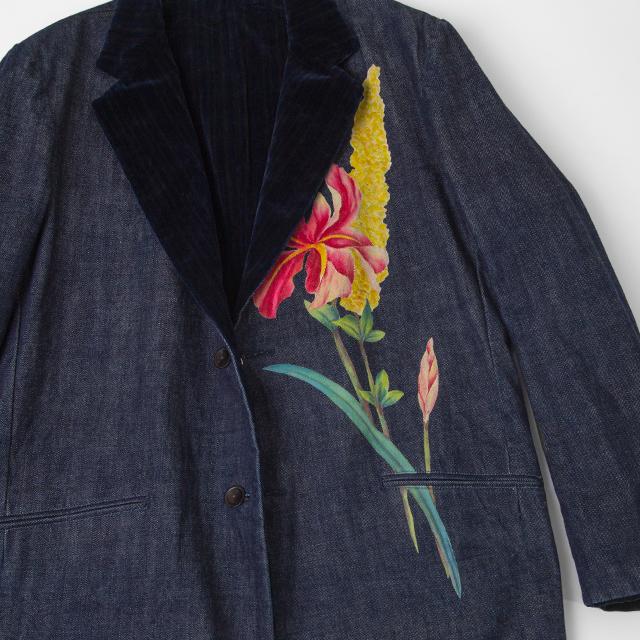 Yohji Yamamoto POUR HOMME 2002A/W Flower Printed Denim Jacket