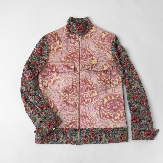 2004A/W Yohji Yamamoto FEMME Dyed Floral Leather Switching Jacket