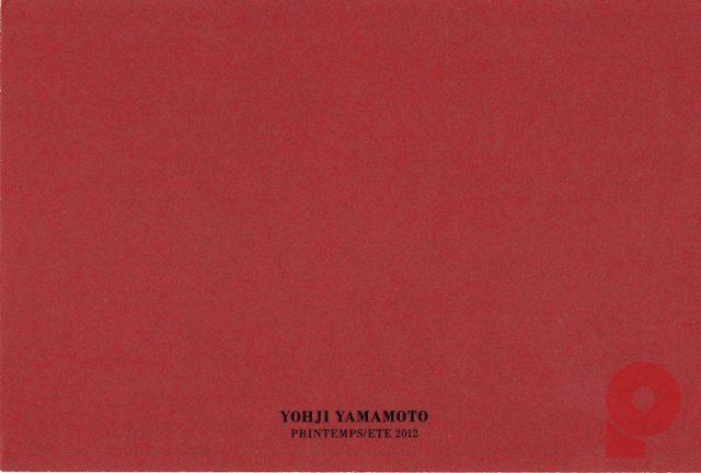 Yohji Yamamoto FEMME PRINTEMPS/ETE 2012 Invitation Card