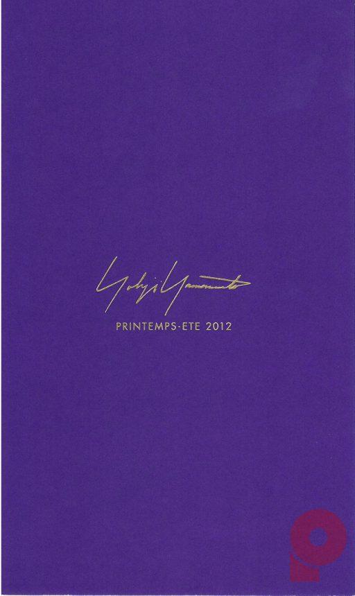 Yohji Yamamoto FEMME PRINTEMPS-ETE 2012 Invitation Card