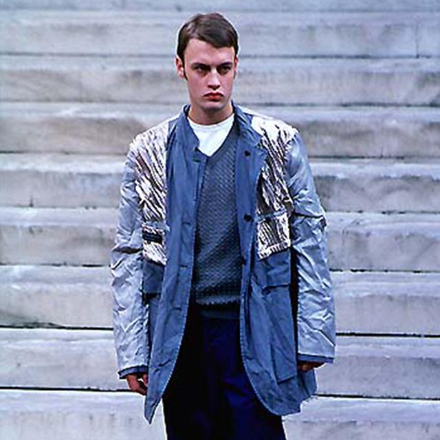 1999S/S COMME des GARCONS HOMME PLUS Bleaching Lining Pleats Jacket