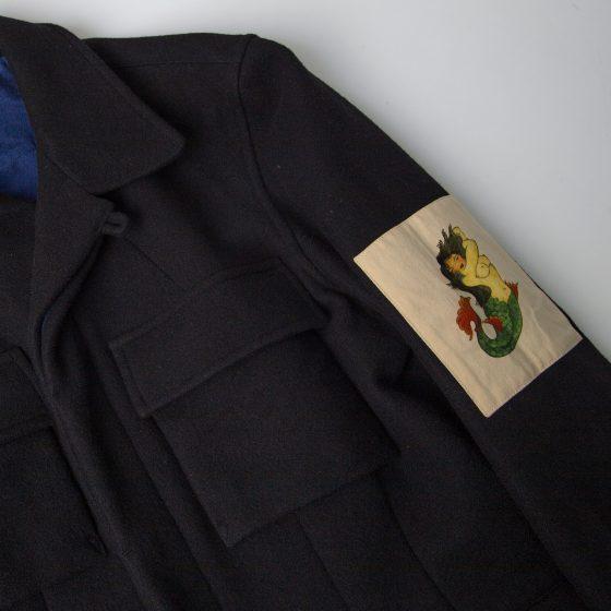 2003 A/W Yohji Yamamoto POUR HOMME Mermaid Patch Jacket