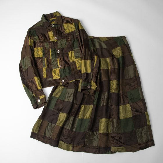 tricot COMME des GARCONS AD2003 Patchwork Jacket & Skirt
