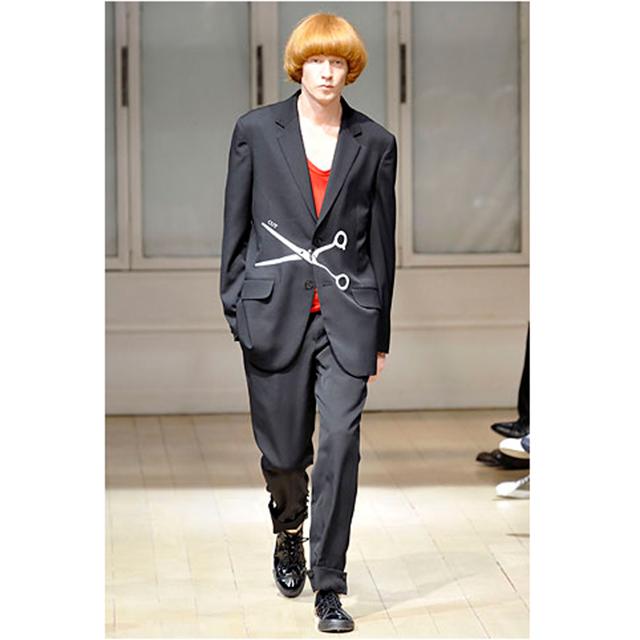 2009S/S Yohji Yamamoto POUR HOMME Scissors Patch Jacket