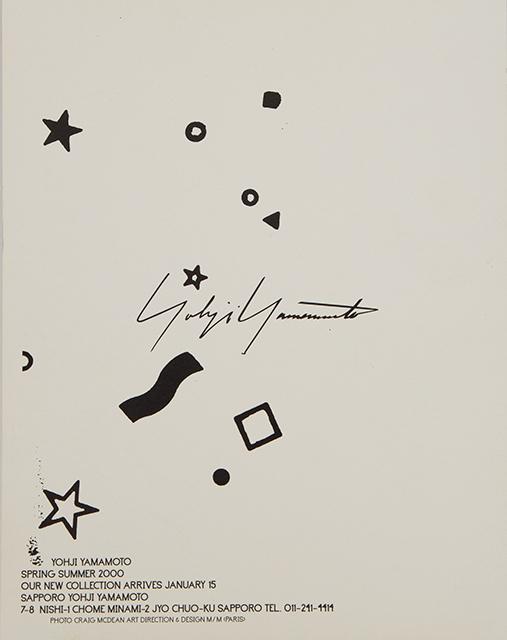 Yohji Yamamoto Spring Summer 2000 Invitation Card