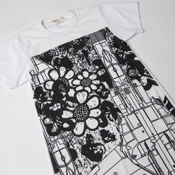 AD2017 COMME des GARCONS Graphic Mesh Long T-shirt