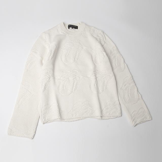 Comme des Garcons x Rolling Stones 2006S/S Lip & Tang Jacquard Knit