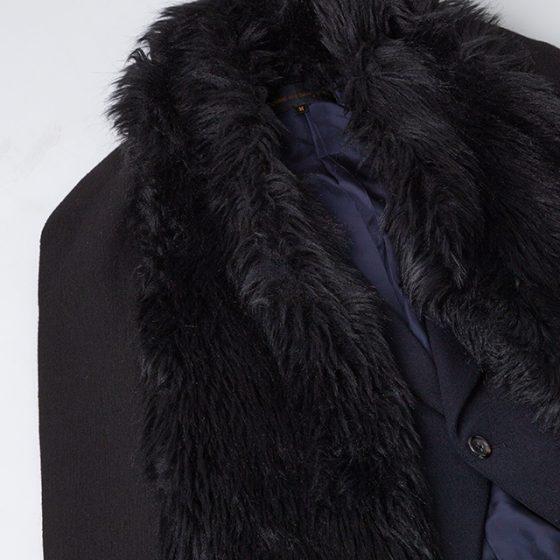 1989 COMME des GARCONS Detachable Fur-collar Jacket
