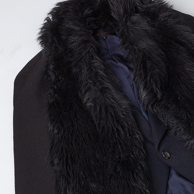 1989 COMME des GARCONS Detachable Fur-collar Jacket
