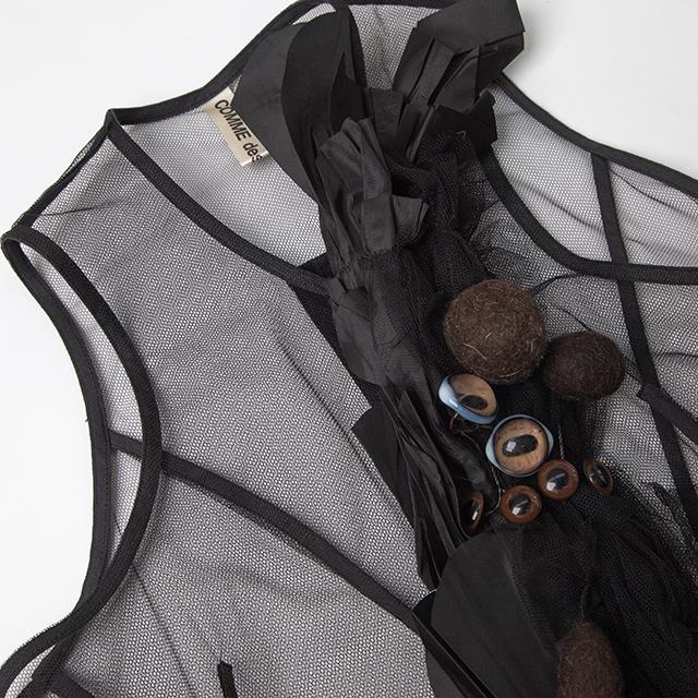 2004A/W COMME des GARCONS Eye balls Design Mesh Vest