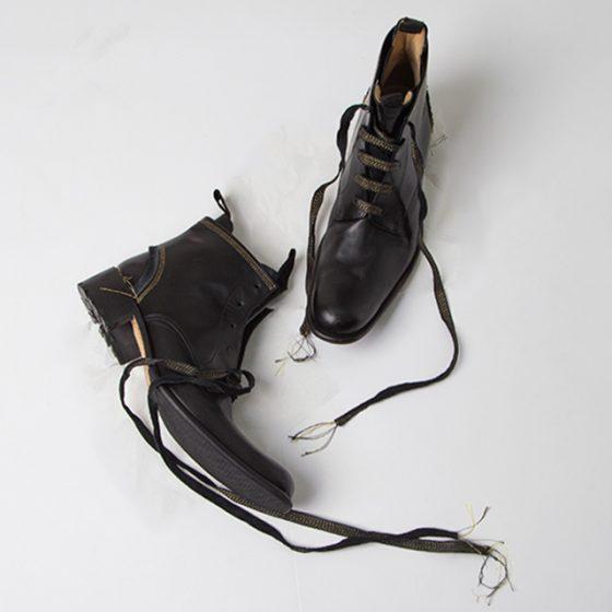 2006A/W Yohji Yamamoto POUR HOMME x HIROMU TAKAHARA Stitching Layer goa Boots