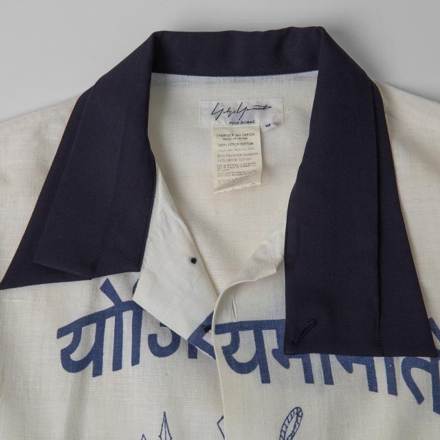 2004A/W Yohji Yamamoto POUR HOMME Sanskrit Printed Shirt
