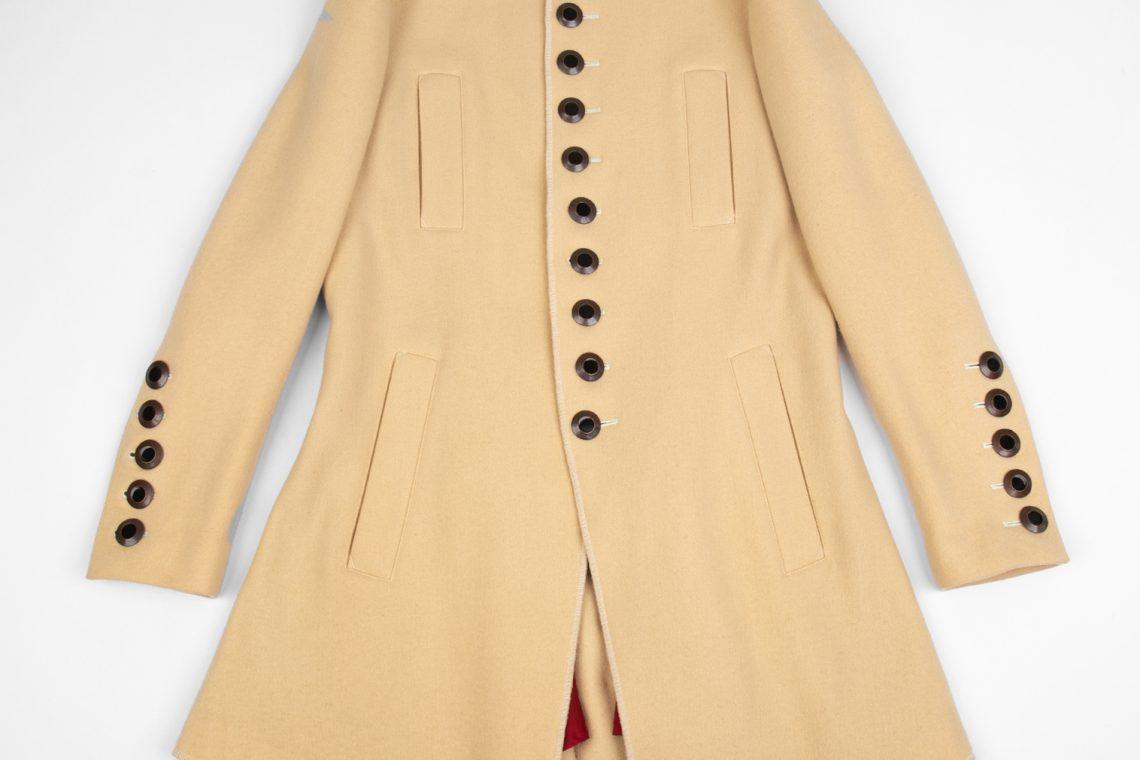 Jean Paul GAULTIER FEMME Stand-collar Metal Button Long Jacket