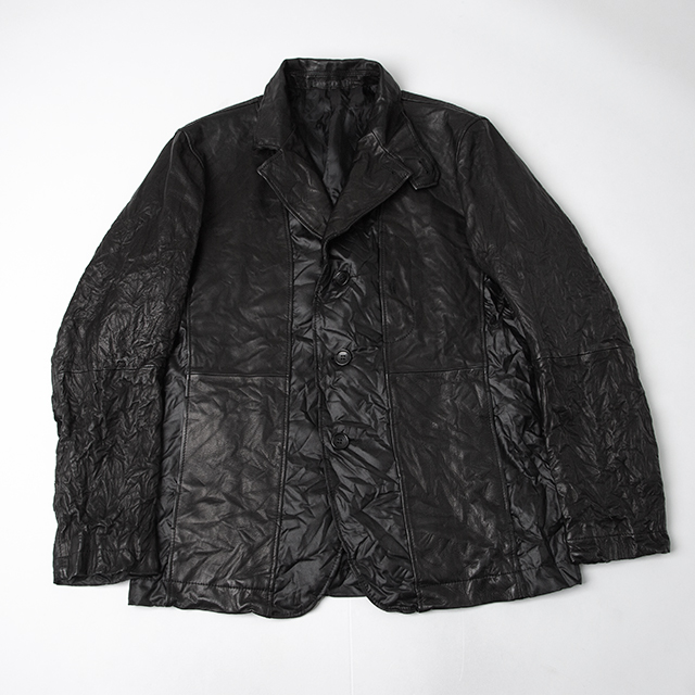 ISSEY MIYAKE MEN Winkled Leather Jacket