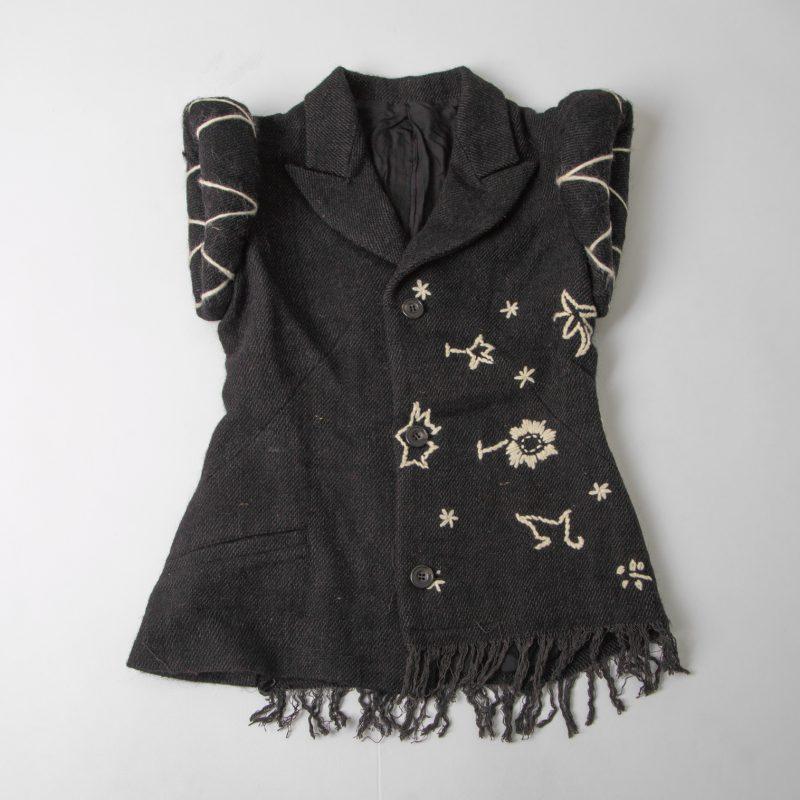 1995A/W Yohji Yamamoto FEMME Embroidered Padding Sleeveless Jacket