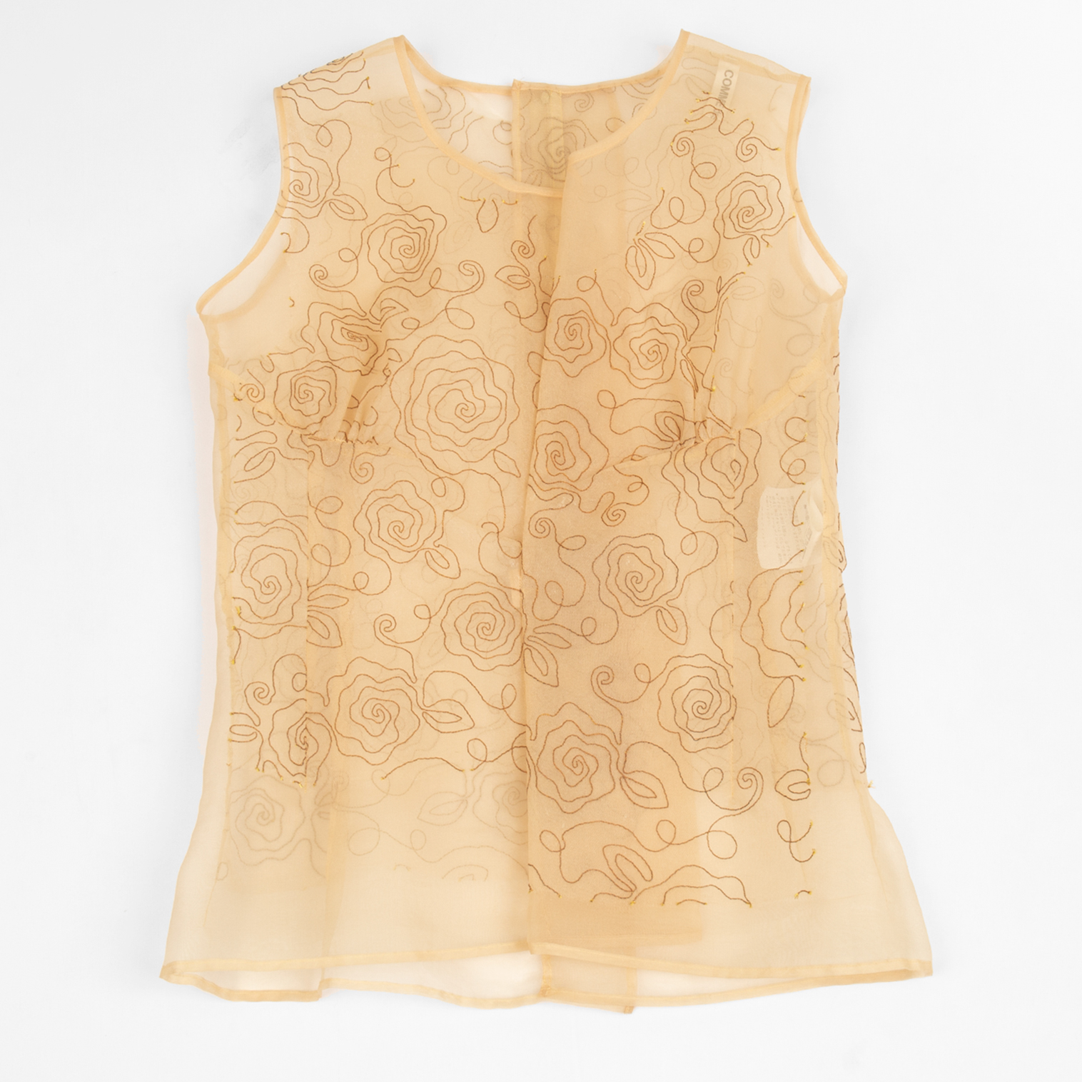 AD1997 COMME des GARCONS Embroideried See-through Vest