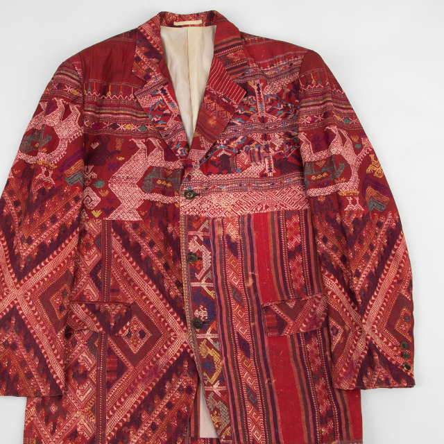 1992S/S COMME des GARCONS HOMME PLUS Ethnic Pattern Printed Jacket