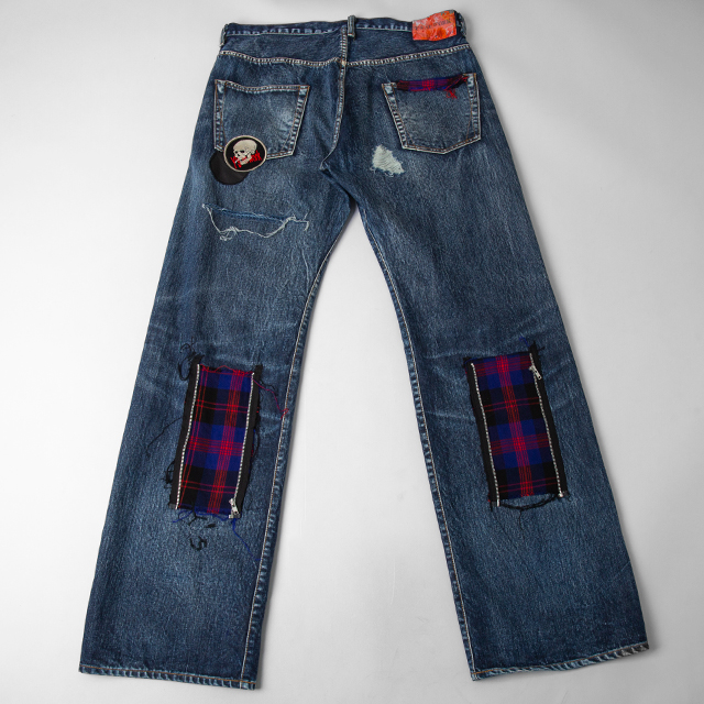 Y's for men x Spotted horse Patched Design Jeans