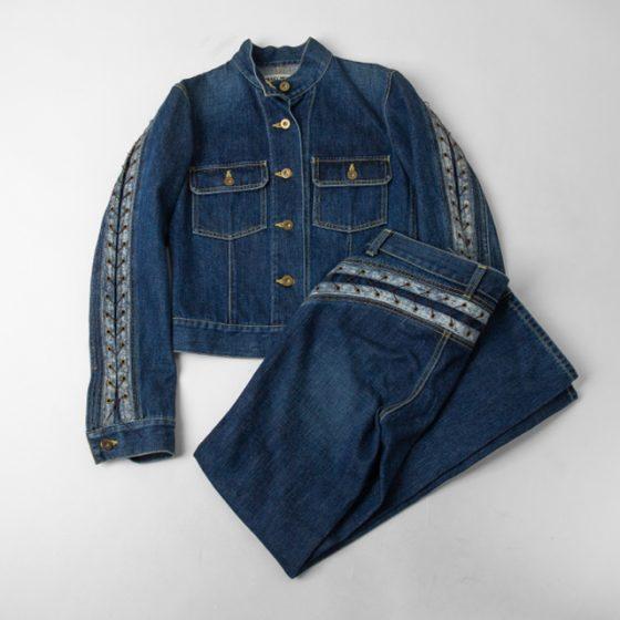 ISSEY MIYAKE Lace-up Denim Jacket & Pants