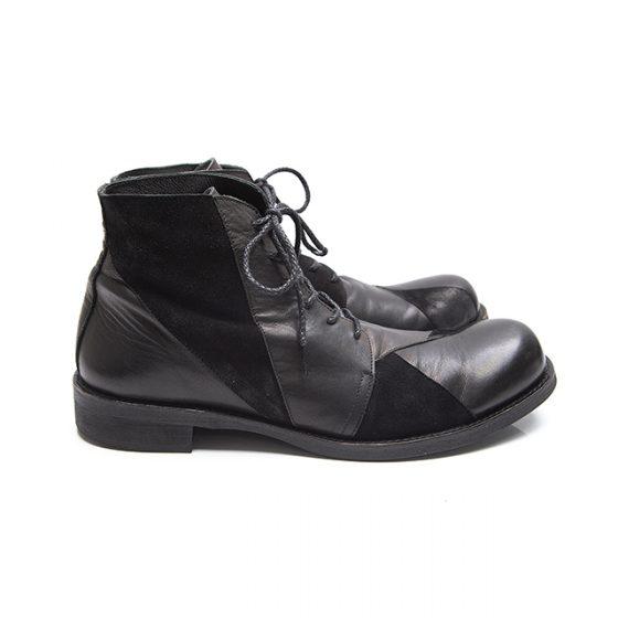 2015A/W Yohji Yamamoto POUR HOMME Patch work Chukka boots