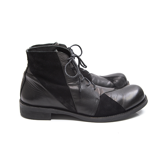 2015A/W Yohji Yamamoto POUR HOMME Patch work Chukka boots