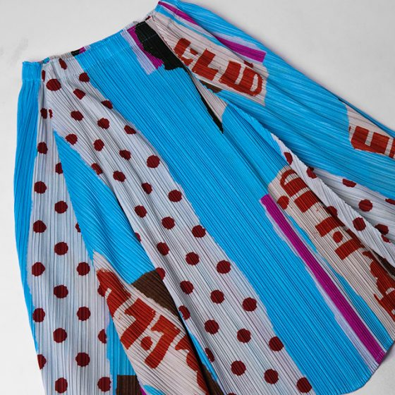 PLEATS PLEASE ISSEY MIYAKE Printed Switching Skirt