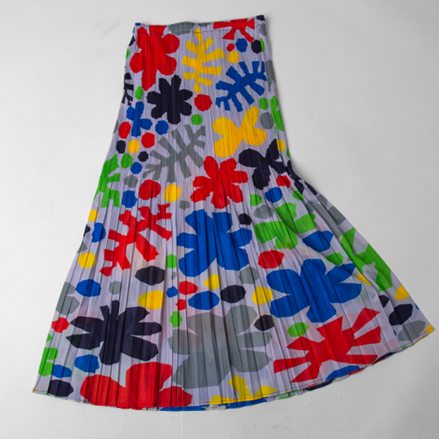 PLEATS PLEASE ISSEY MIYAKE Colorful Floral Printed Skirt
