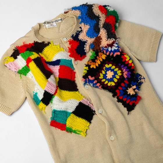 AD2009 COMME des GARCONS Design Woven Knit Top