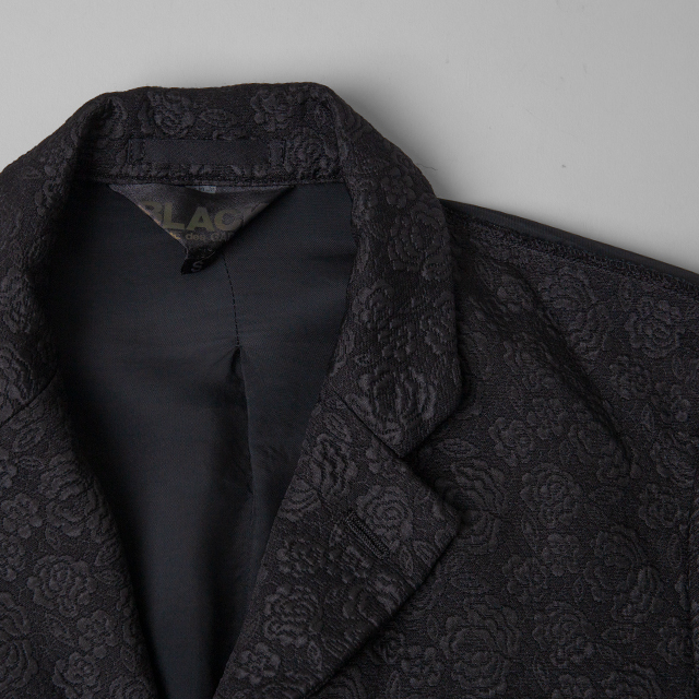 BLACK COMME des GARCONS Switching Rose Woven Jacket