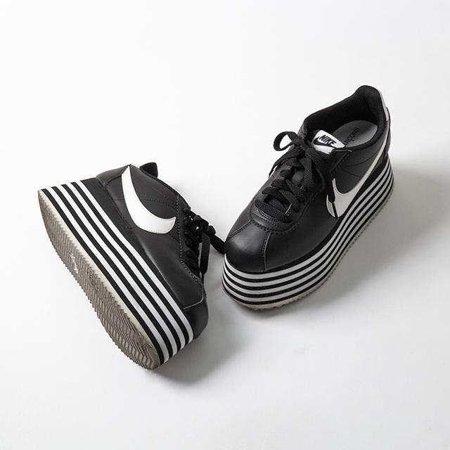 COMME des GARCONS x NIKE CORTEZ CDG Platform Sneakers