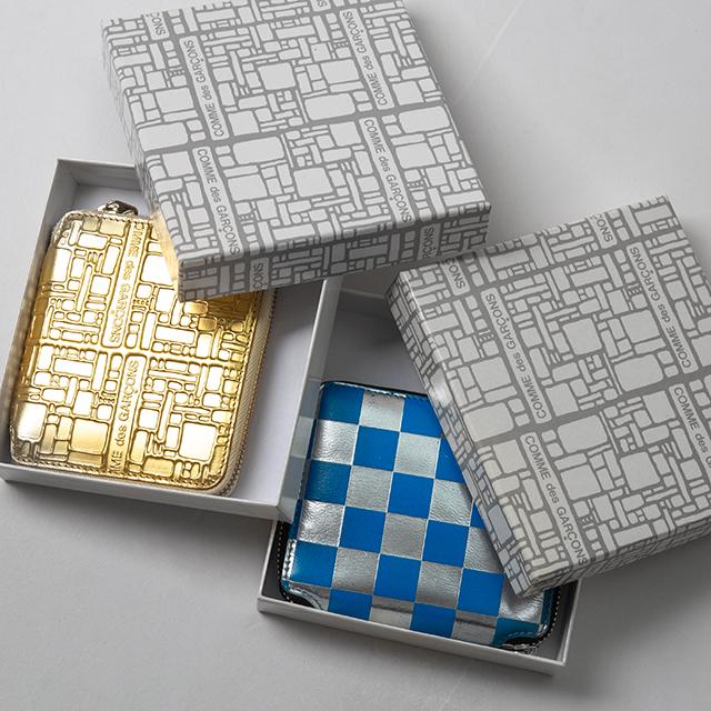 COMME des GARCONS Metallic Zip Wallets