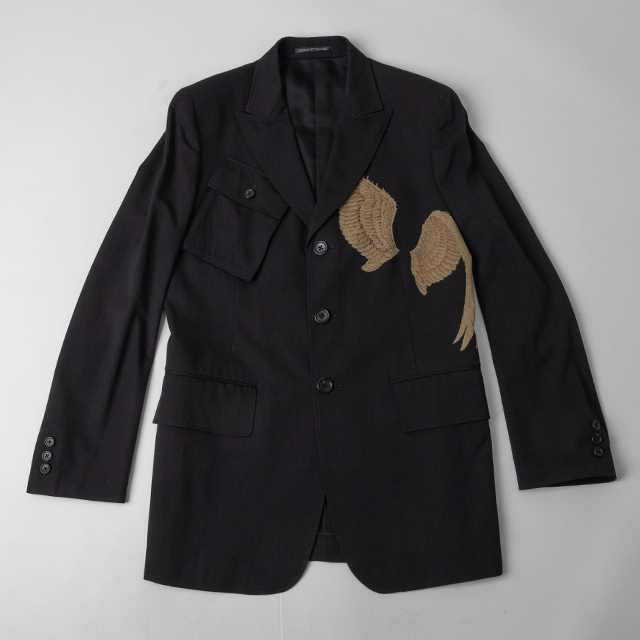2008S/S Yohji Yamamoto POUR HOMME  Pigeon wing Printed Jacket