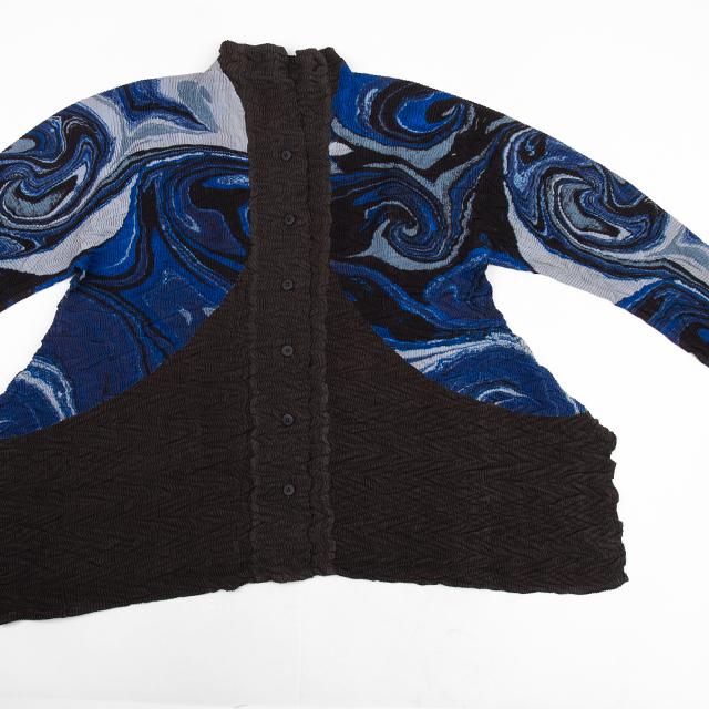 ISSEY MIYAKE Marble Pleats Switching Jacket