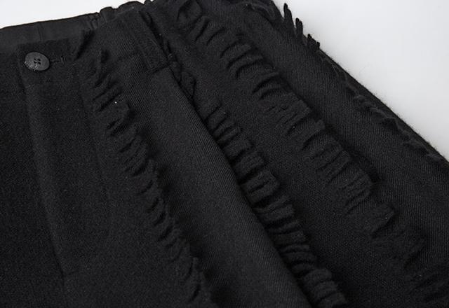 2019A/W ISSEY MIYAKE MEN Fringe Woven Wool Pants