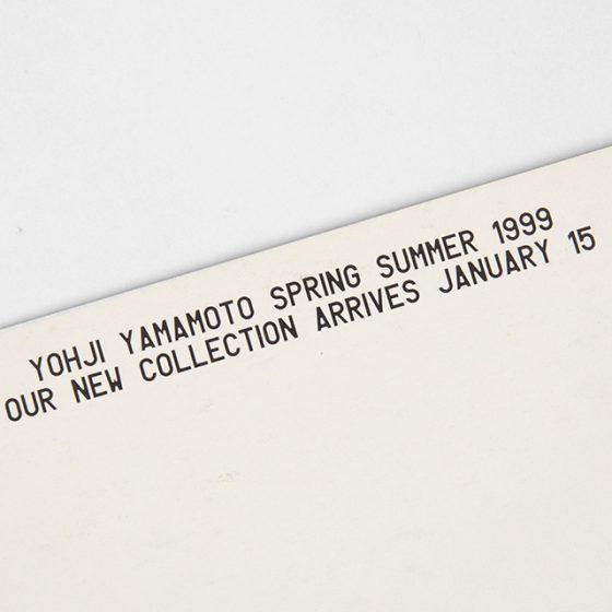 YOHJI YAMAMOTO SPRING SUMMER 1999