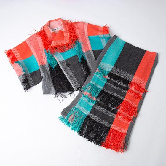 ISSEY MIYAKE 2016S/S SASIKO Weave Jacket & Skirt
