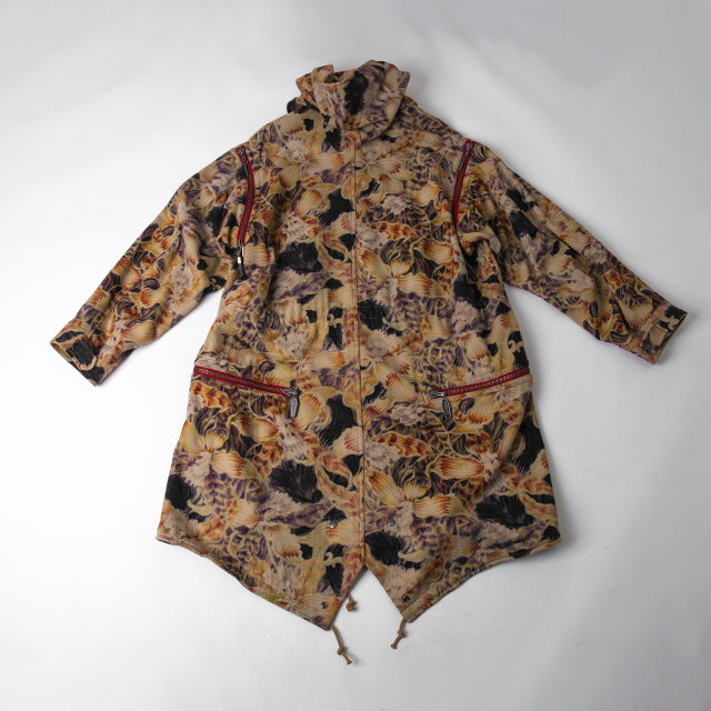 2014A/W Yohji Yamamoto POUR HOMME Floral Printed Wool Mods Coat