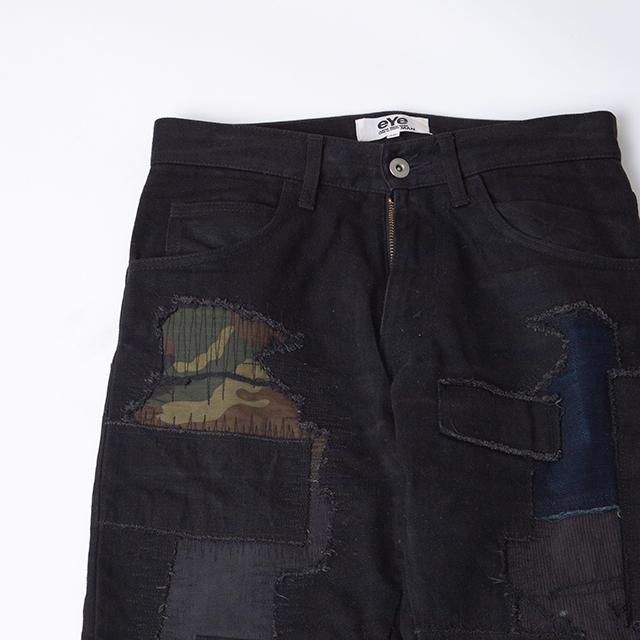 eYe JUNYA WATANABE MAN Patchwork Black Denim Pants