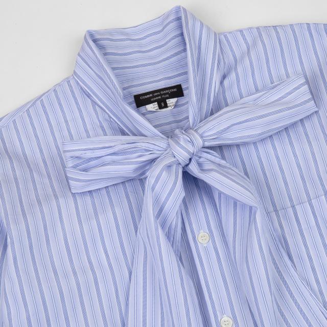 AD2012 COMME des GARCONS HOMME PLUS Bow tie Striped Shirt
