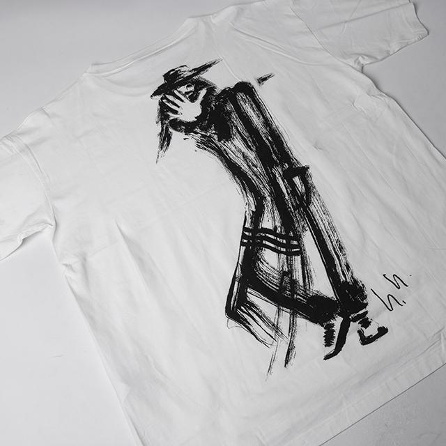 Y-3 Yohji Yamamoto Drawing Over-sized T-shirt