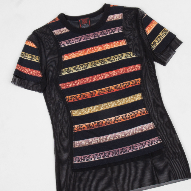 Jean Paul GAULTIER CLASSIQUE Pasted Design Mesh Top