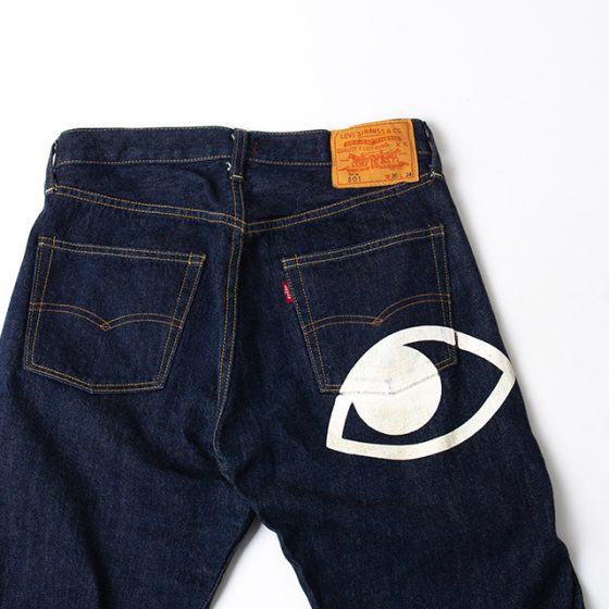 AD2005 COMME des GARÇONS JUNYA WATANABE MAN 501 Eye Print Jeans