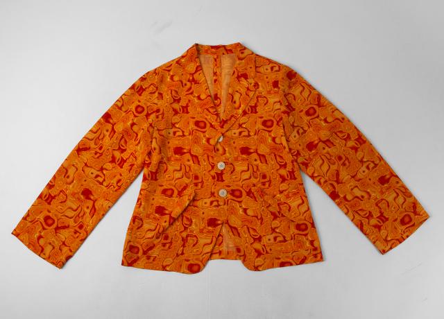 Yohji Yamamoto FEMME Marble Printed Jacket