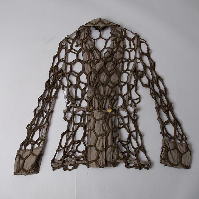 AD2014 COMME des GARCONS HOMME PLUS Mesh Design Jacket